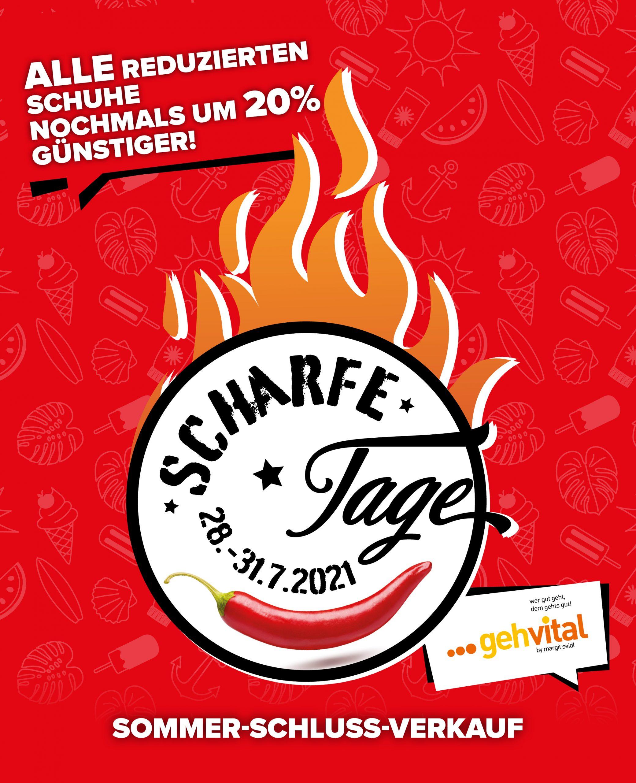 SCHARFE TAGE by gehvital vom 28. bis 31.7.2021