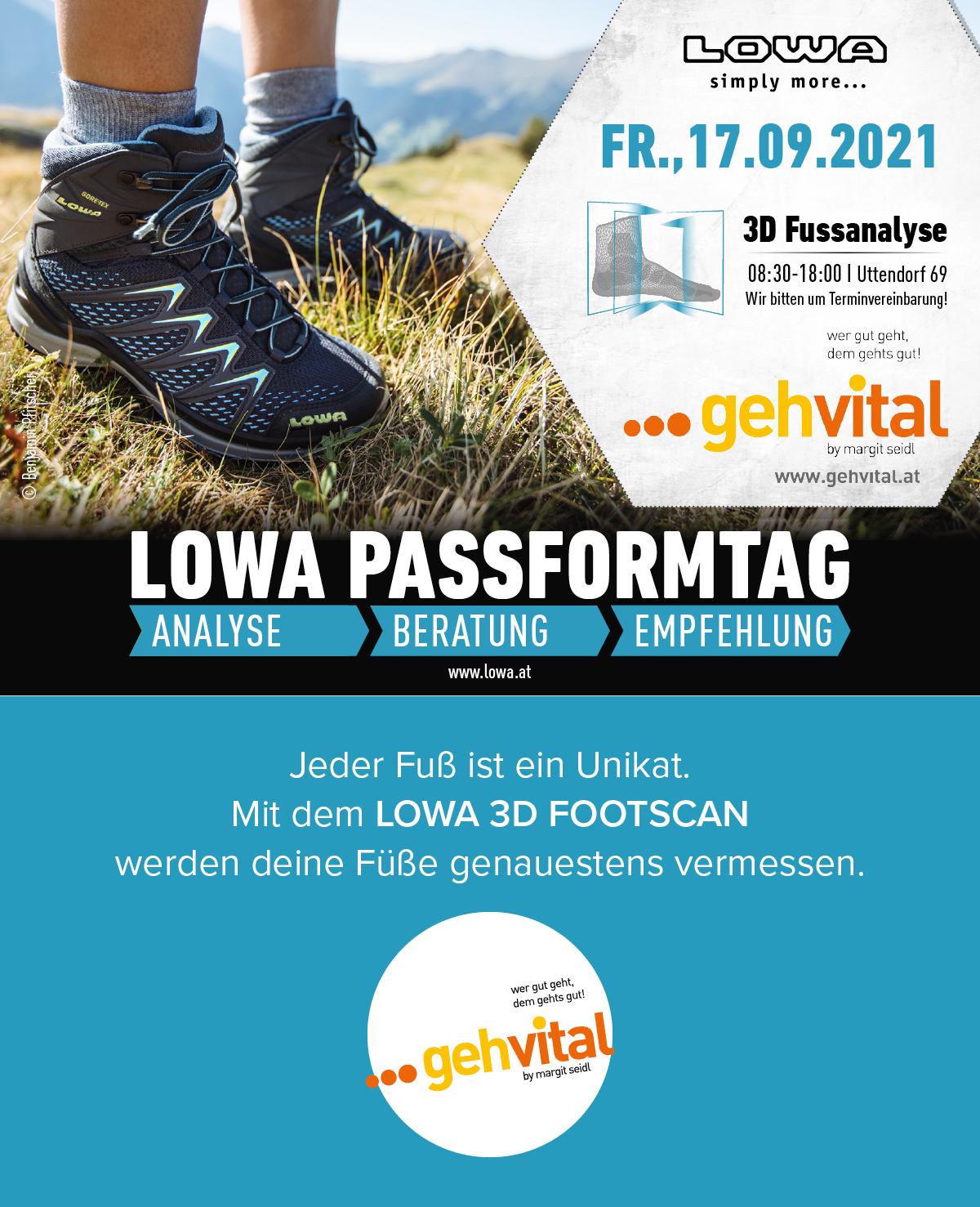 Die LOWA Passformanalyse